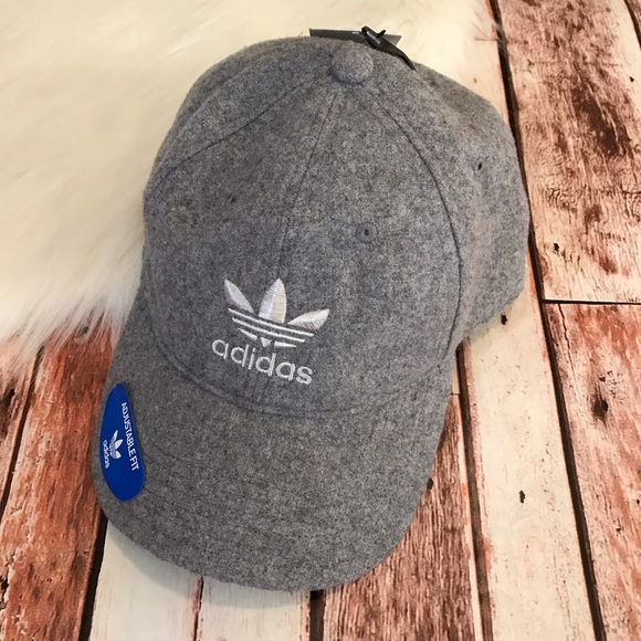 Adidas Baseball Hat Wool Relaxed Gray NWT a487ae5bd7b2